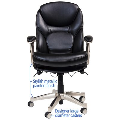 Serta at Home Back in Motion™ Health and Wellness Mid-Back Office Chair