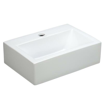 Wall Mount Porcelain Sink : Elanti Porcelain Rectangle Wall Mounted Sink & Reviews Wayfair