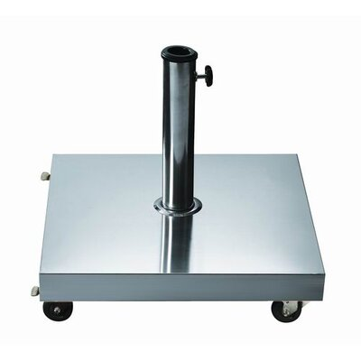 Dayva Free Standing Square Stainless Steel Umbrella Base
