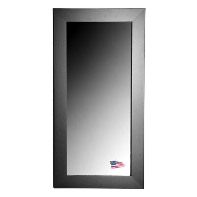 Rayne Mirrors Jovie Jane Black Satin Wide Tall Mirror