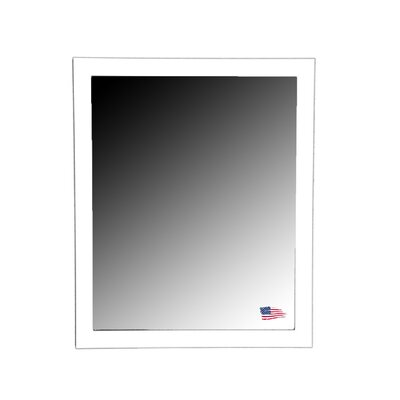 Rayne Mirrors Ava Polished White Wall Mirror