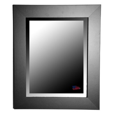 Rayne Mirrors Jovie Jane Black Satin Wide Wall Mirror