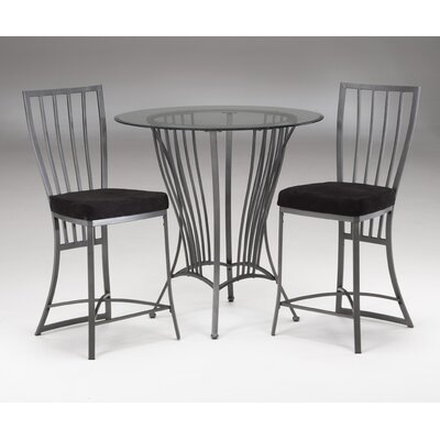Bernards Galaxy 3 Piece Counter Height Pub Table Set