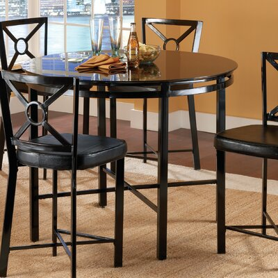 Bernards Diamond 5 Piece Pub Table Set