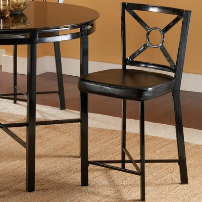 Bernards Diamond Glass Top Pub Table Set