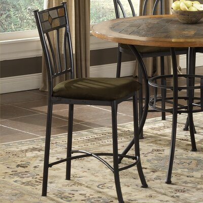 Bernards Rock Wood/Stone Counter Height Pub Table with Optional Stools
