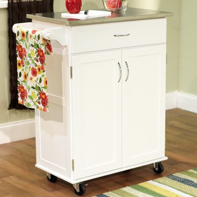 TMS Kitchen Cart with Stainless Steel Top