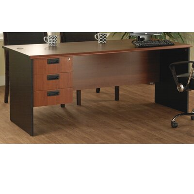 TMS Executive Computer Desk with Single Pedestal
