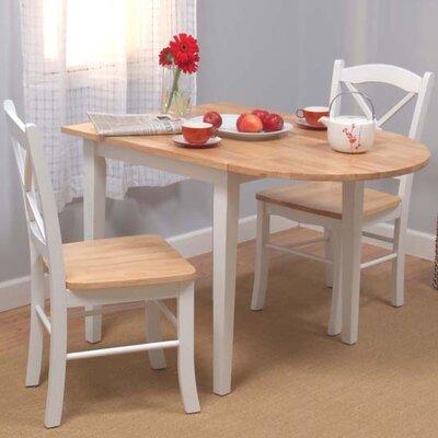 tms tiffany 3 piece dining set reviews wayfair. Black Bedroom Furniture Sets. Home Design Ideas