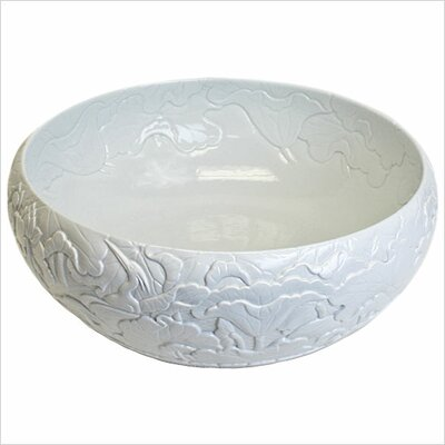 Hand Carved Porcelain Leaves Bathroom Sink - P002