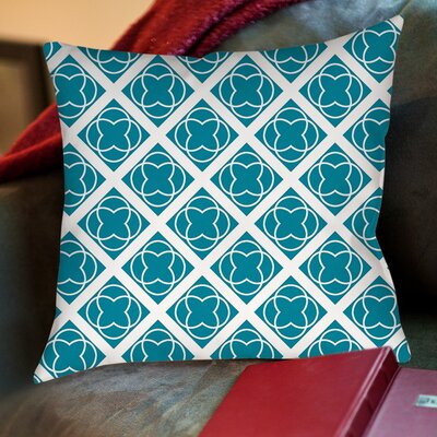 Modern Geometric Topaz Printed Pillow