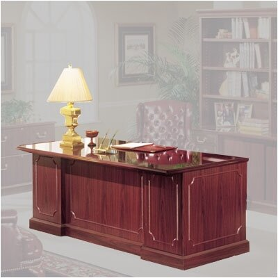 "High Point Furniture Bedford 66"" Double Pedestal Executive Desk"