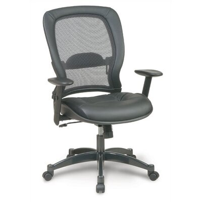 High Point Furniture High-Back Leather Executive Chair with Arms