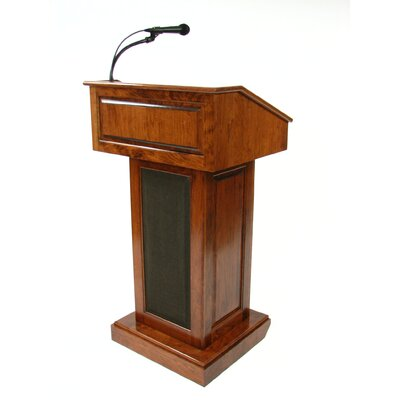 Executive Wood Products Counselor Evolution Lectern With Sound System