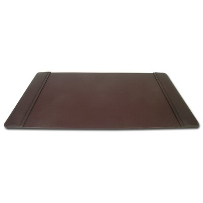Dacasso 1000 Series Classic Leather 34 x 20 Side-Rail Desk Pad in Chocolate Brown