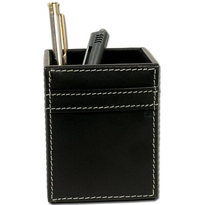 Dacasso 3200 Series Leather Pencil Cup in Rustic Black