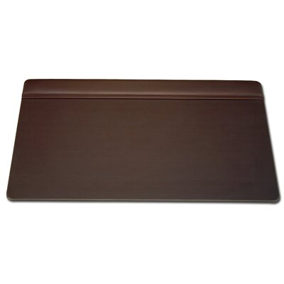 Dacasso 1000 Series Classic Leather 34 x 20 Top-Rail Desk Pad in Chocolate Brown
