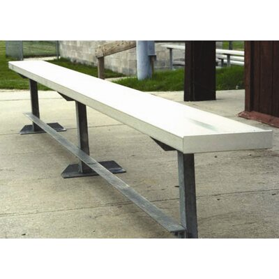 All Star Bleachers 21' W Aluminum Frame Team Bench with Optional Back & Contour Seat