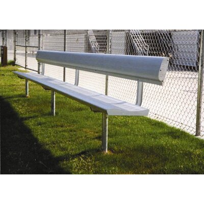 All Star Bleachers 15' W Aluminum Frame Team Bench with Optional Back & Contour Seat