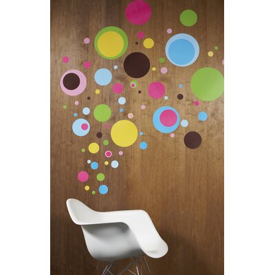 WallCandy Arts Dottilicious Removable Wall Decals 80 Piece Set