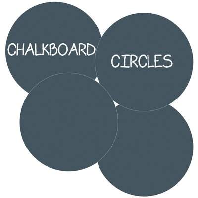 WallCandy Arts Chalkboard Circles Removable Wall Decal