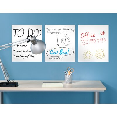 WallCandy Arts White Board (Set of 3)