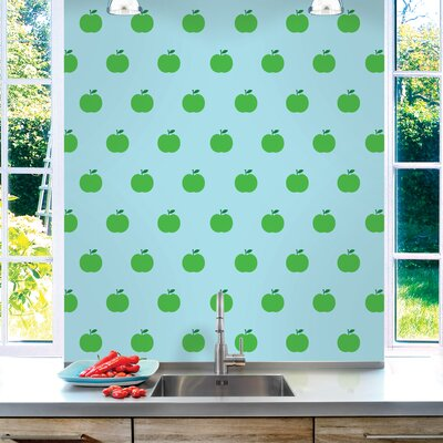 WallCandy Arts Apple Wallpaper in Blue and Green