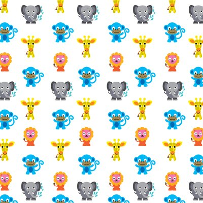WallCandy Arts French Bull Jungle Animals Wallpaper