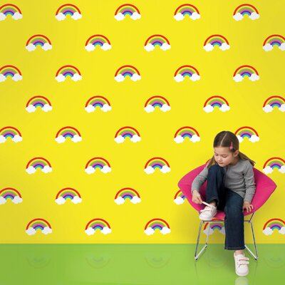 WallCandy Arts Rainbows Wallpaper in Yellow