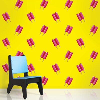 WallCandy Arts Twin Pops Wallpaper in Yellow and Pink