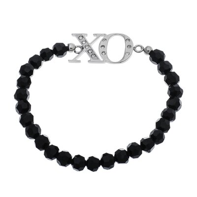 XO Crystal Beaded Bracelet
