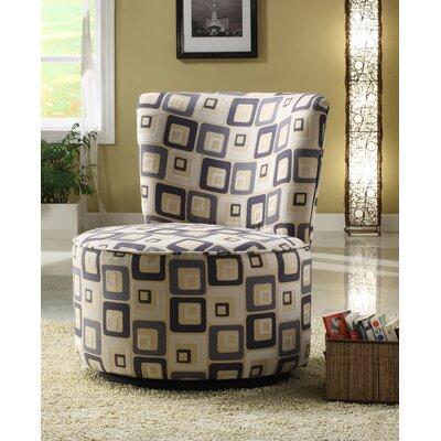Woodbridge Home Designs Blue Geometric Easton Chair