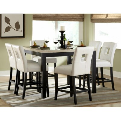 woodbridge home designs archstone 7 piece counter height dining set