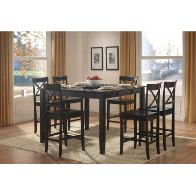 Woodbridge Home Designs Billings 7 Piece Counter Height Dining Set