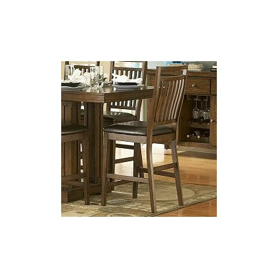 Woodbridge Home Designs 5381 Series Counter Height Dining Chair in Distressed Medium Oak