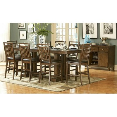 Woodbridge Home Designs 5381 Series 9 Piece Counter Height Dining Set