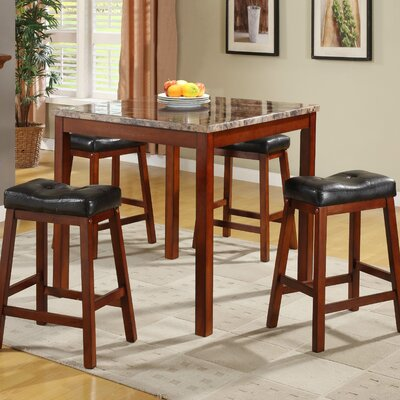 Woodbridge Home Designs Archstone 5 Piece Counter Height Dining Set