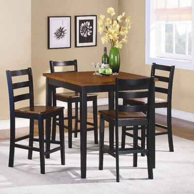 Woodbridge Home Designs Lynn 5 Piece Counter Height Dining Set