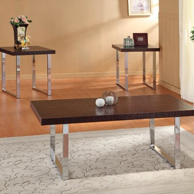 Woodbridge Home Designs Whistling 3 Piece Coffee Table Set