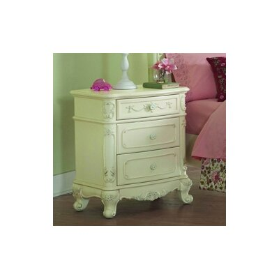 Woodbridge Home Designs 1386 Series 3 Drawer Nightstand