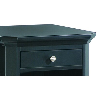 Woodbridge Home Designs 8891 Series One Drawer CPU Cabinet in Black