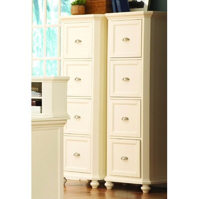 Woodbridge Home Designs 8891 Series Four Drawer File Cabinet in White