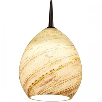 Bruck Lighting Vibe LED MP Pendant with Sea Shell Glass