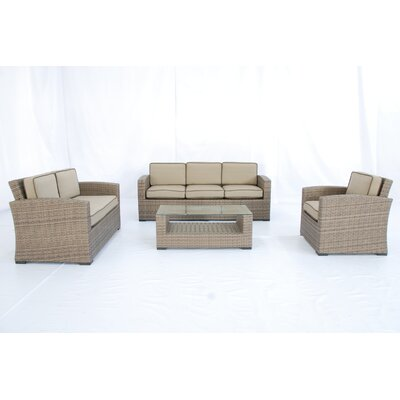 Creative Living Ferrara 1-2-3 4 Piece Deep Seating Group with Cushions