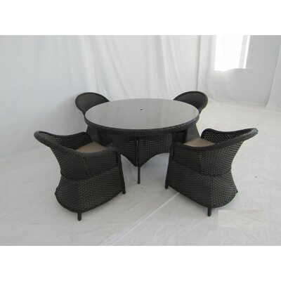 Creative Living Antigua 5 Piece Dining Set with Cushions