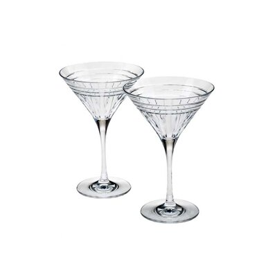 Reed & Barton Tempo 2-Piece Martini Glass Set