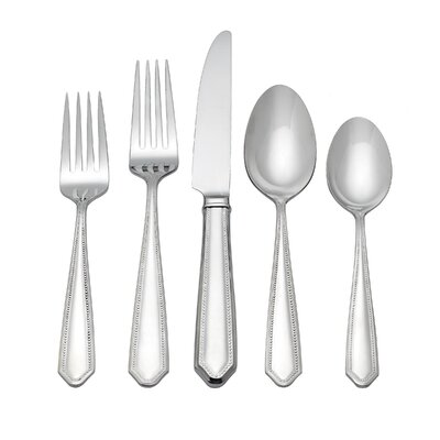 Reed & Barton Crestridge Bead 5 Piece Flatware Set