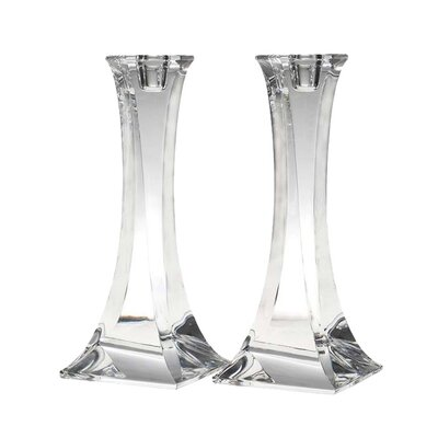 <strong>Reed & Barton</strong> Crystal Tango Candlesticks (Set of 2)