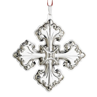 Reed & Barton Christmas Cross Sterling Ornament