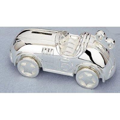 "Reed & Barton Children's Giftware 6.75"" Race Car Coin Bank"